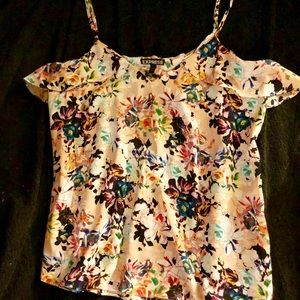 Express floral lacy tank top